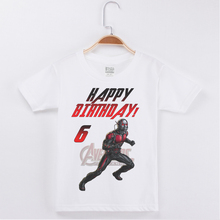 Brand Tees New Arrivals Kids Clothes Birthday T-shirt Ant-Man Pirnting Funny Cotton Children Clothing Short T Shirts Boy Tshirt