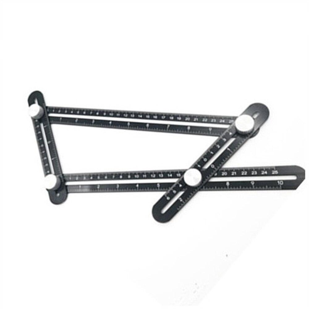 Universal Angularizer Ruler Multi Angle Measuring Tool Ultimate Black Template Aluminium alloy accu 20 5cm max height universal aluminium alloy bipod black