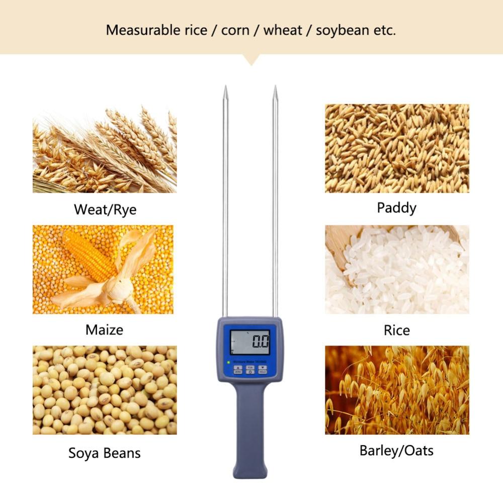 10Pcs/Lot TK100G Grain Moisture Meter Wheat Maize Soya Beans Paddy Rice Barley Moisture Tester hot 3pcs lot tk100g11 lcd digital grain flour moisture meter tester for wheat corn semolina soybeans coffee flour hygrometer