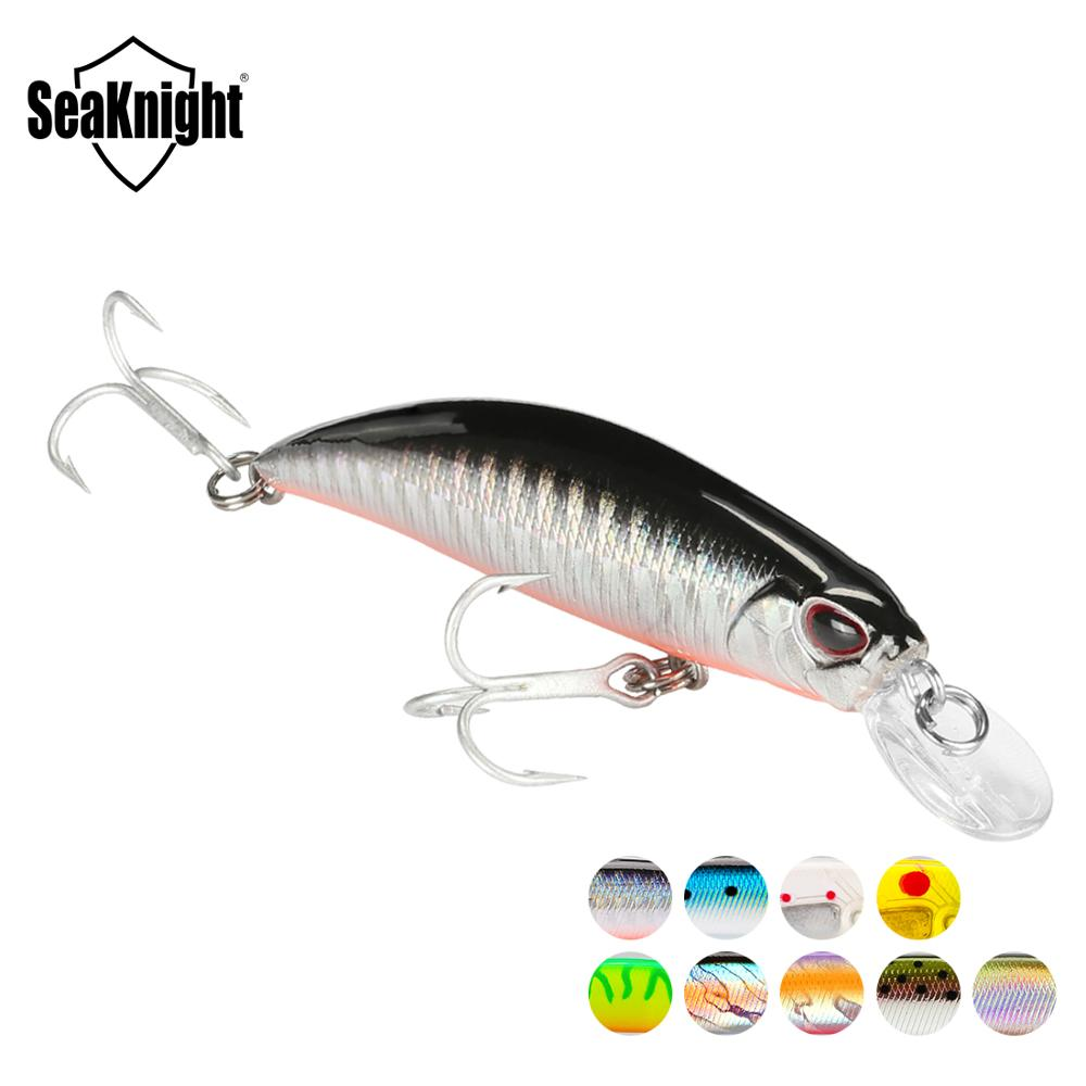 SeaKnight SK040 Minnow Sinking Lure 9.5g 7cm 3in 1PC Mini Minnow Plastic Hard Fishing Lure 3D Fish Eyes VMC Hooks Fishing Baits