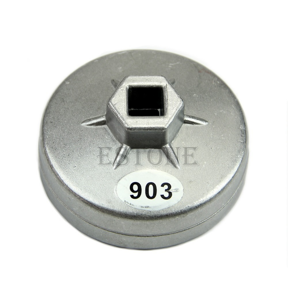 OOTDTYFree Shipping Aluminum Oil Filter Wrench Socket Remover Tool 74mm 14 Flute For BMW AUDI Benz