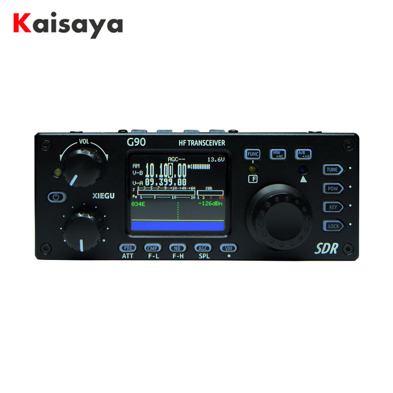 Xiegu G90 QRP HF Amateur Radio Transceiver 20W SSB/CW/AM/FM 0.5-30MHz SDR Structure with Built-in Auto Antenna Tuner