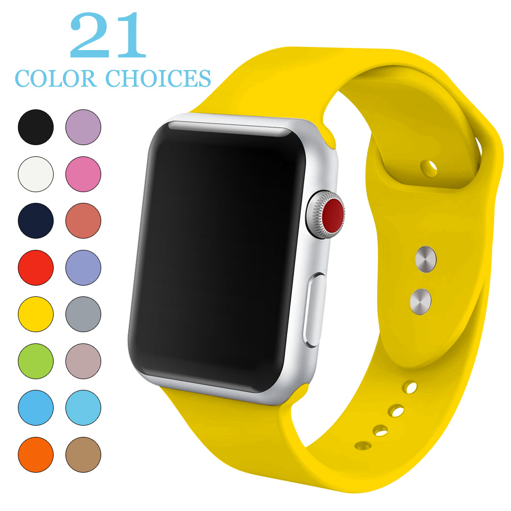 Silicone Sport Band for iwatch Series 4321 Accessories Replaceable Bracelet Strap for apple Watch 42mm 38mm Watchband Watchstrap