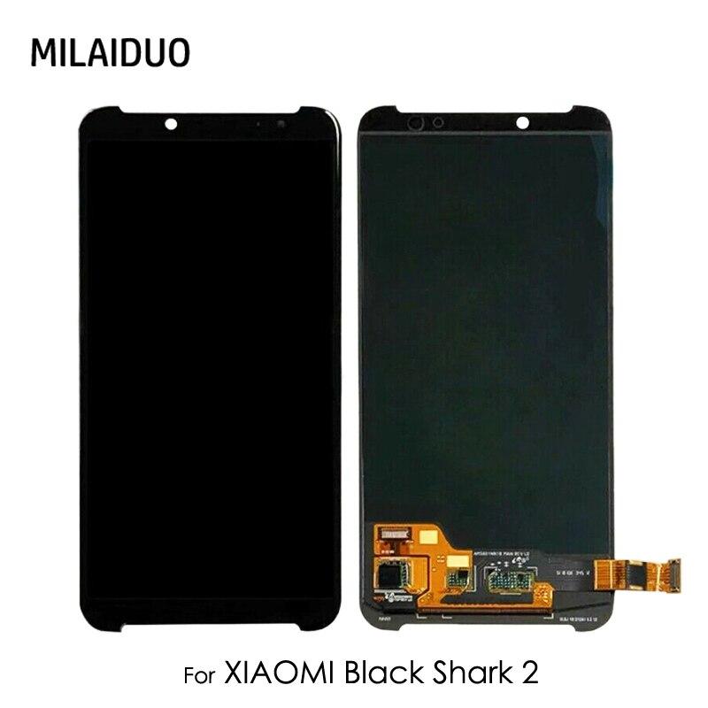 Écran LCD pour Xiaomi noir requin 2 Helo 2 AWM-A0 écran tactile numériseur verre assemblage complet pièces de rechange noir pas de cadre
