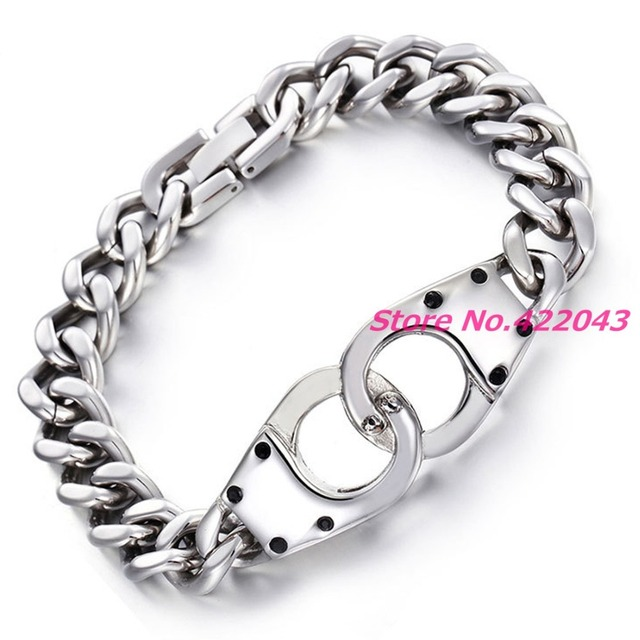 High Quality 19mm 316l Stainless Steel Handcuff Bracelet Fashion Sports Men S Bangle Casual Wrist