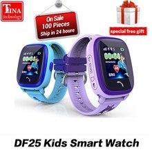 Водонепроницаемый DF25G Детские умные часы PK dz09 gps умный ребенок Smartwatch SOS вызова расположение устройства трекер дети Безопасный анти- потерянный монитор