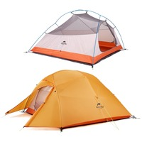 NatureHike Factory new Upgraded 3 Person Tent Double layer waterproof fabric Camping hiking fishing Tents