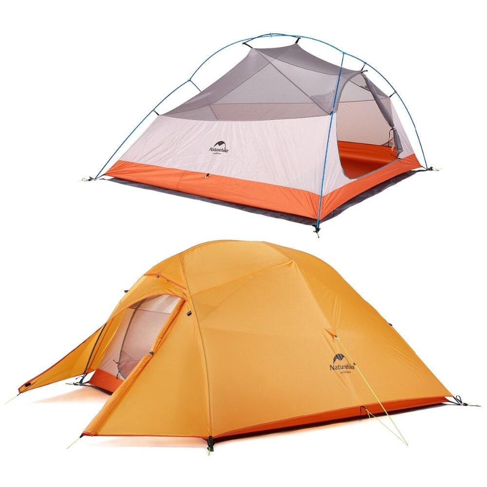 Naturel randonnée usine nouvelle mise à niveau 3 personnes tente Double couche tissu imperméable Camping randonnée tentes de pêche