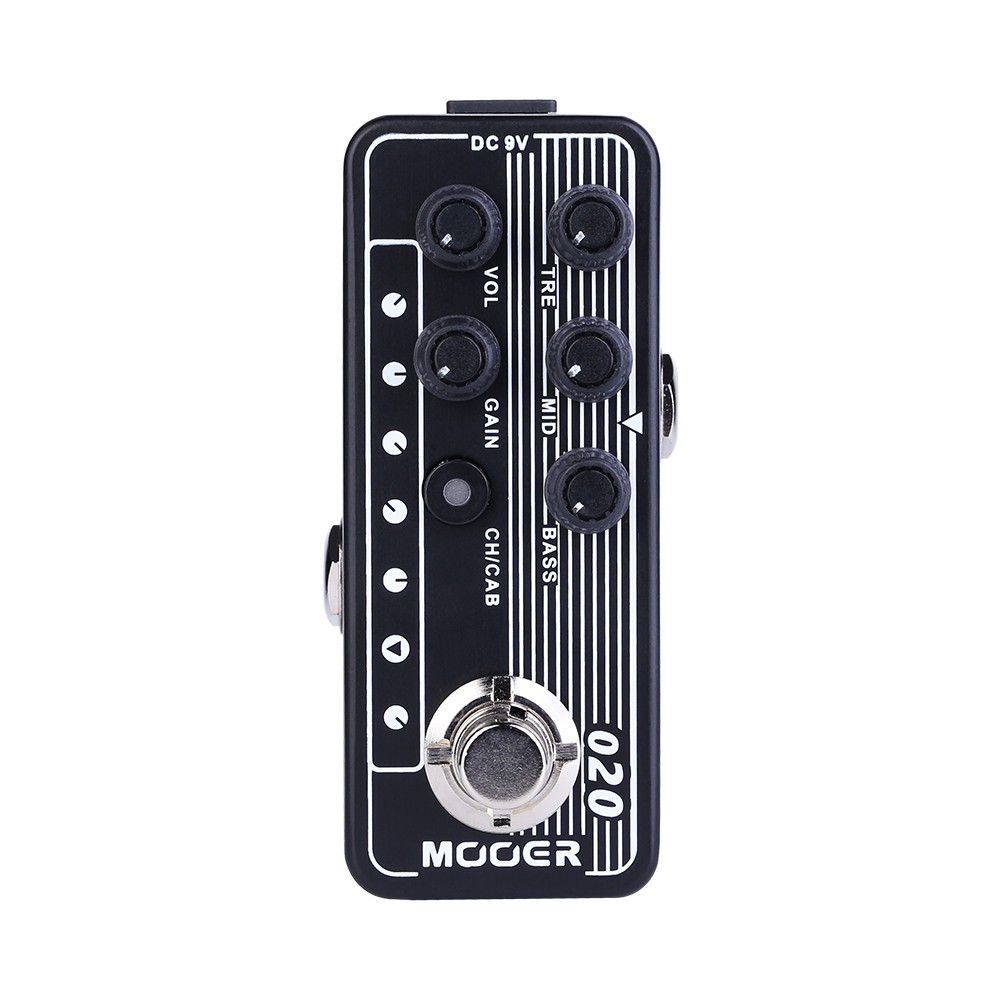 MOOER 020 BLUENO Guitar Pedal Contains 2 Channels Dual Channel Preamp Independent 3 Band EQ High Gain Speaker Cabinet SimulationMOOER 020 BLUENO Guitar Pedal Contains 2 Channels Dual Channel Preamp Independent 3 Band EQ High Gain Speaker Cabinet Simulation