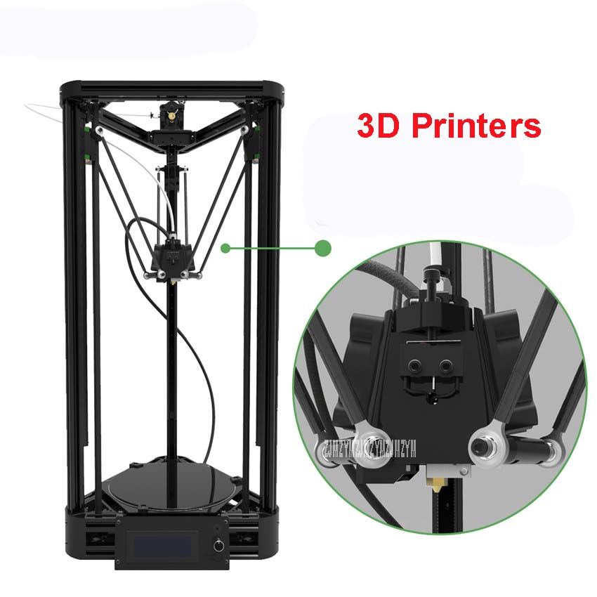 100 240V 3d printer DIY injection version of delta parallel arm pulley version with warm bed