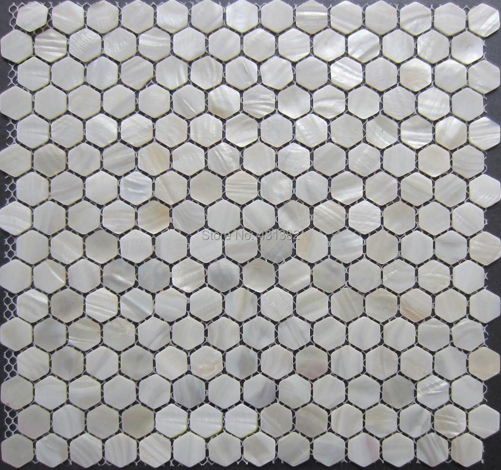 hexagon 20mm shell mosaic tiles backsplash mother of pearl tile bathroom shower mosaics wall tile