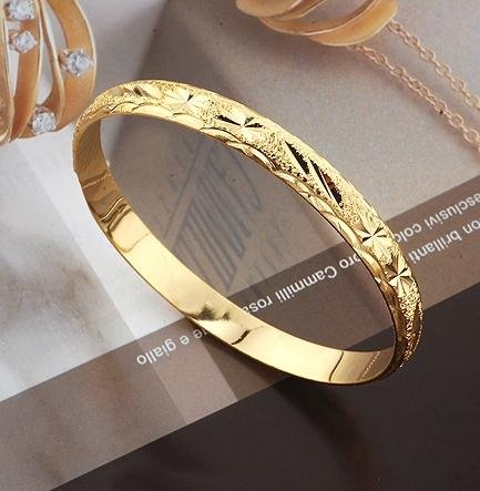 Fashion Jewelry Bangle 8mm 66mm 18k Yellow Gold Filled Bracelet