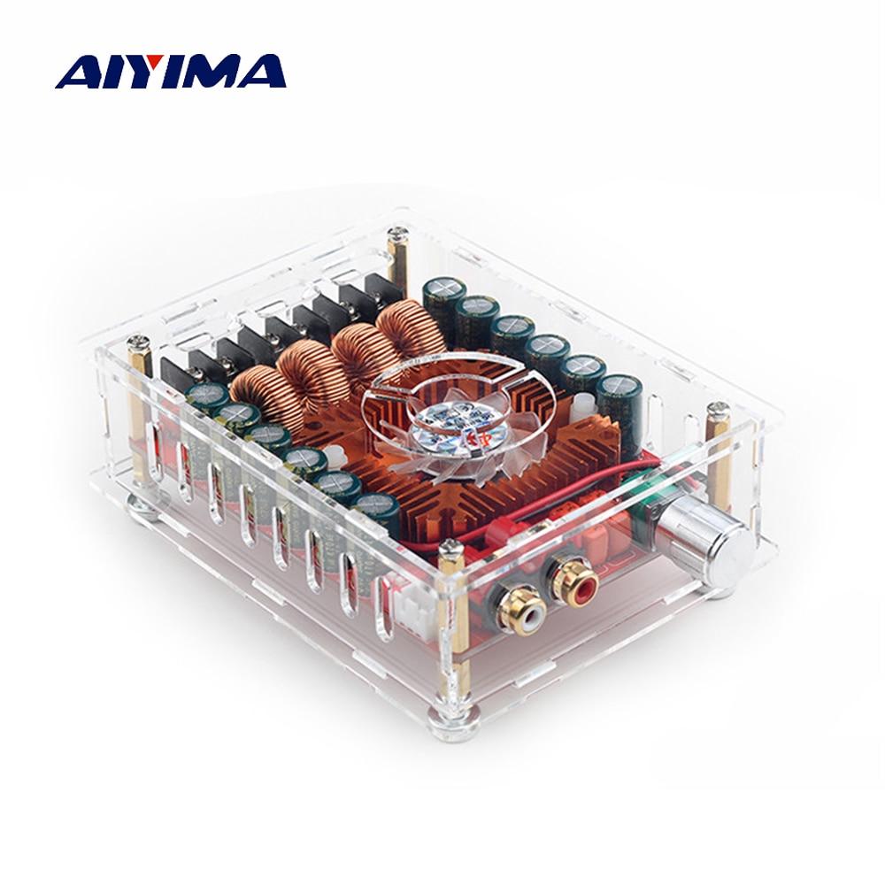 Aiyima 160 w * 2 TDA7498E Digitale Versterker Boord Dual Channel Stereo Audio Versterkers Ondersteuning BTL Modus Mono 220 w met Case-in Versterker van Consumentenelektronica op  Groep 1