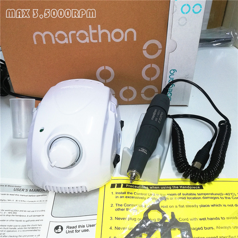 STRONG MARATHON champion 3 H37L1 Handle 35000rpm Electric Nail Drill STRONG 210 Micro Motor Grinding font