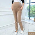High Waist Casual Clothes for Pregnant Women Pregnancy Trousers Maternity Clothing 2016 maternity pants trousers spring autumn