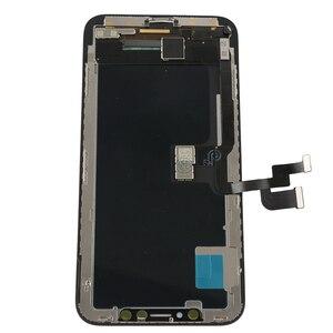 Image 2 - 2pcs AAA OLED replacment עבור iphone X OLED תצוגת מסך מגע עצרת משלוח מזג זכוכית 2pcs