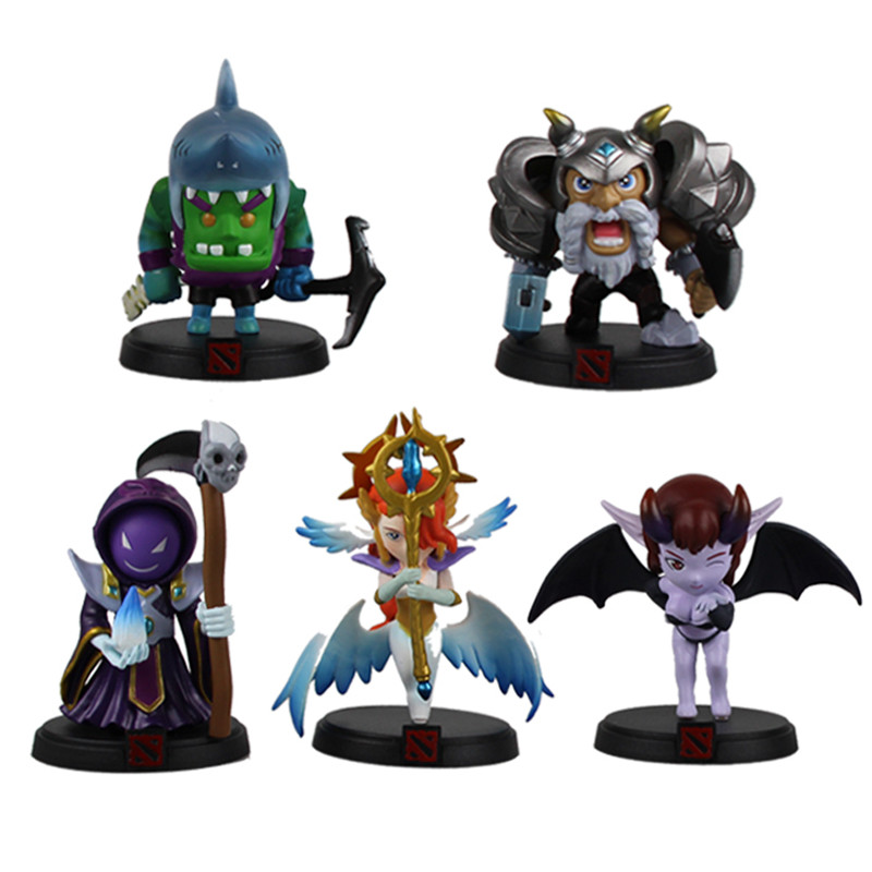 5st / lot Dota 2 Action Figur Anime PVC Dota2 Hero Figurmodell - Toy figuriner
