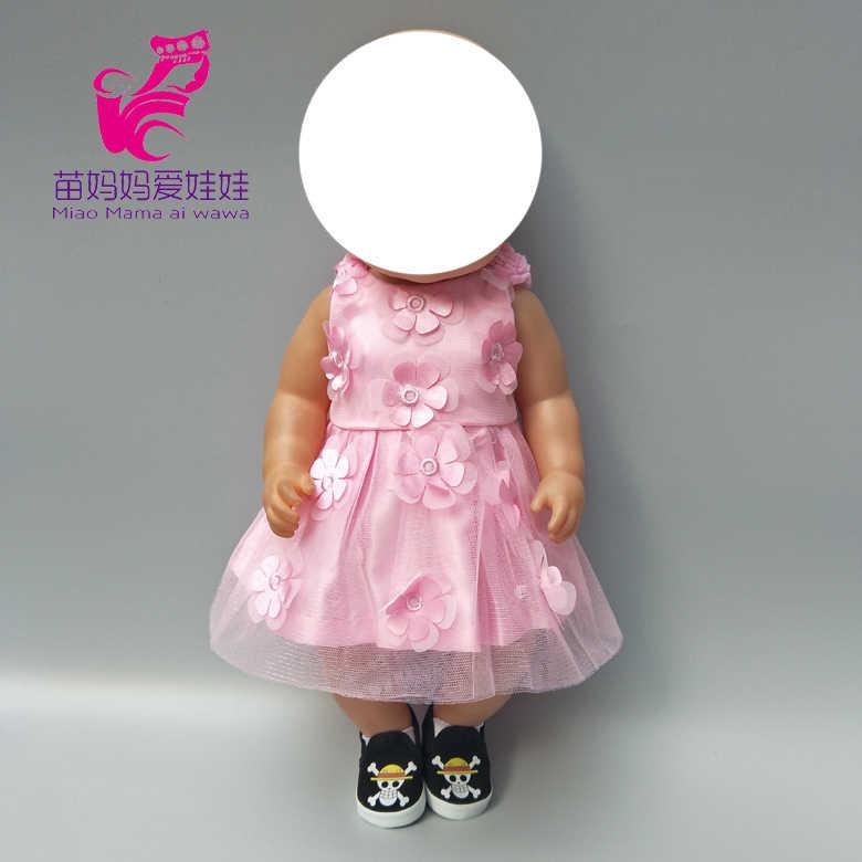 """43 センチメートルための新生児人形刺繍レース王女のレースのドレス下着 18 """"人形の服"""