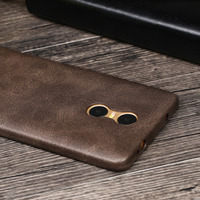 X Level Ultra Slim High Quality Luxury PU Leather For Xiaomi Redmi Pro Back Cover Case