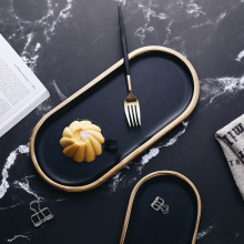 10 дюймов черное овальное керамическое блюдце тарелка еда фруктовый десерт торт блюдо для суши хранения ювелирных изделий декоративный поднос тарелка
