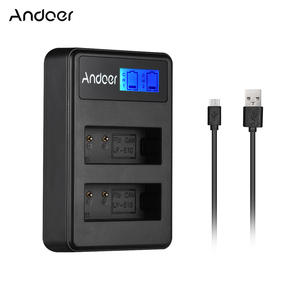 Andoer LCD2-LPE LCD Camera Battery Charger for Canon LP-E10/LP-E12/LP-E17/Sony