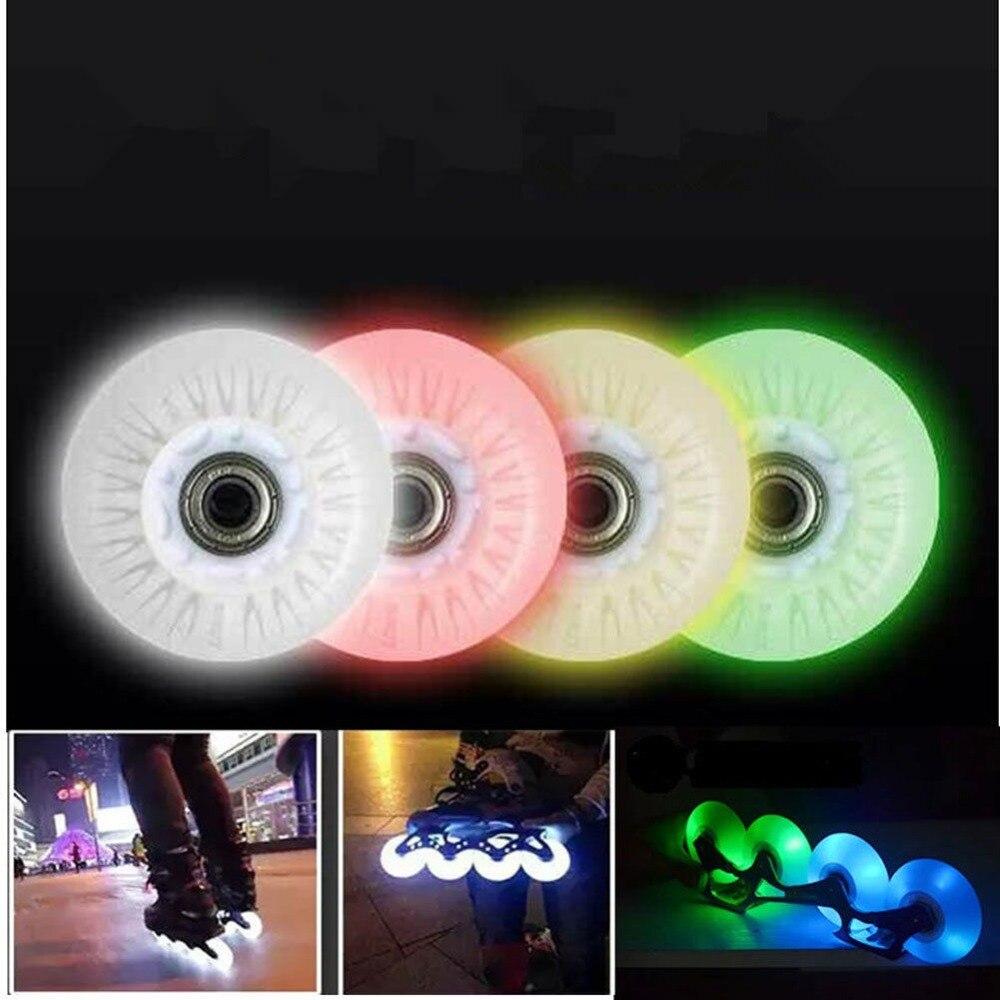 Prix pour 4x patins à roues alignées remplacement Durable Flash roue 72 mm / 76 mm / 80 mm pour roller Skate chaussures