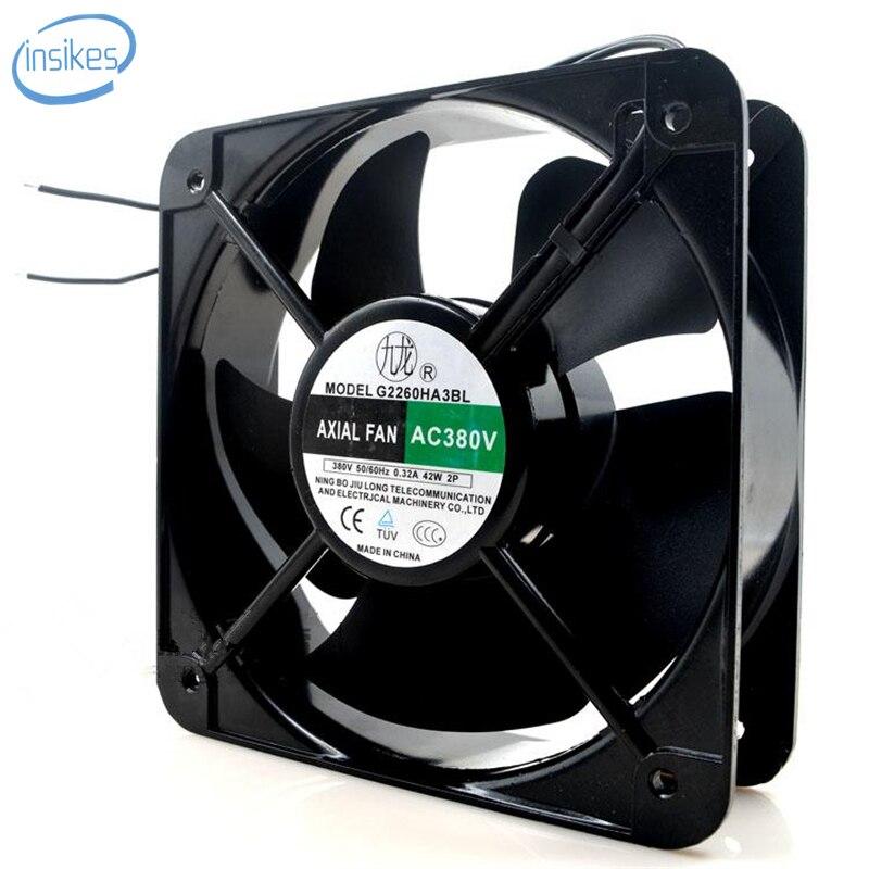 G2260HA2BL Square Cooling Fan AC 220V 0.32A 42W 20060 20cm 200*200*60mm 2 Wires g2260ha2bl square cooling fan ac 220v 0 32a 42w 20060 20cm 200 200 60mm 2 wires