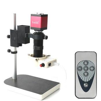 Промышленная камера микроскопа HDMI набор 14MP HDMI VGA выходы камера 130X c-крепление Объектив 56 светодиодный светильник с пультом дистанционного у...