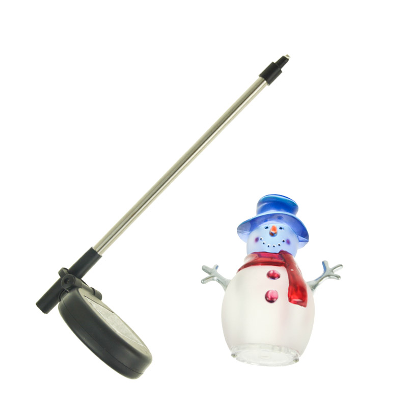 Christmas Decorations Snowman Led Solar Lights Outdoor Lighting Garden Lawn  Solar Panel Lamps Landscape Yard Path