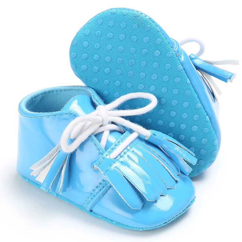 Raise Young PU Leather Spring Baby Moccasins Soft Soles Non-slip Fringe Infant Girl Princess Shoes Newborn Toddler Boy Footwear