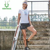 2018 Vansydical Women's Running Sets Fitness Sports Suits Quick Dry Sports T-shirts Gym Outdoor Sportswear Workout Jogging Suits