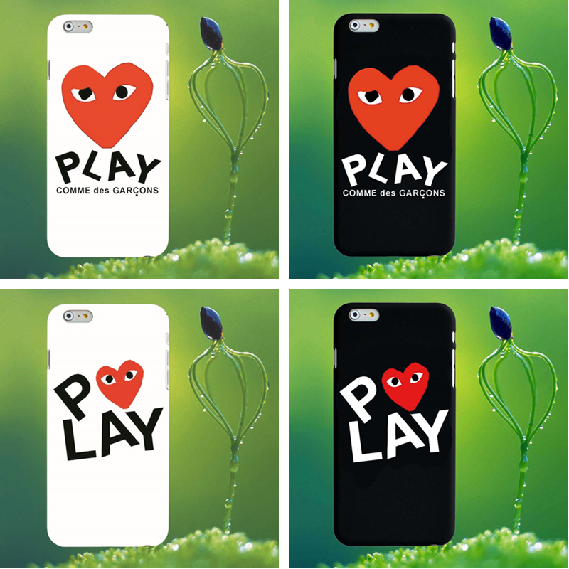 luxury brand CDG Play Comme des Garcons Hard Matte Protect Cases For iphone 5S SE 6s 6 7 Plus 8 8plus X Phone Cover coque case