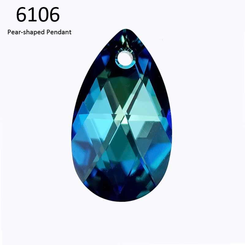 (1 piece) 100% Original crystal from Swarovski 6106 Pear-Shaped pendant from afac795b677b