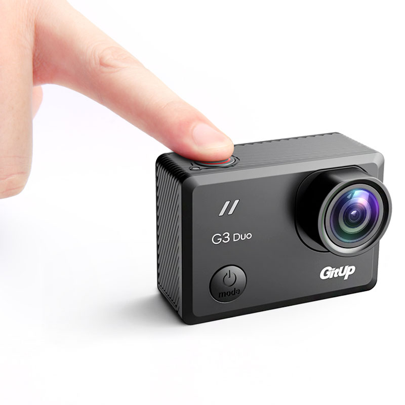 "Gitup G3 Duo Git3 WiFi 2K 2160P Action Camera 2"" Touch Screen GYRO 170 degree Wrist Remote Control GPS Slave Camera External MIC-in Sports & Action Video Camera from Consumer Electronics    3"