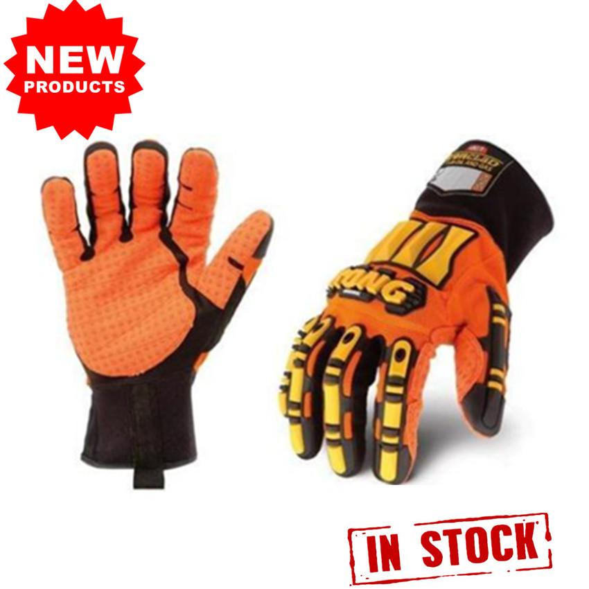 Oil Glove Work Heavy Duty Impact Protection Hi Vis Oil Safety Gloves Resistant Inlined Water Oil-Proof Kong Size S M L XL title=