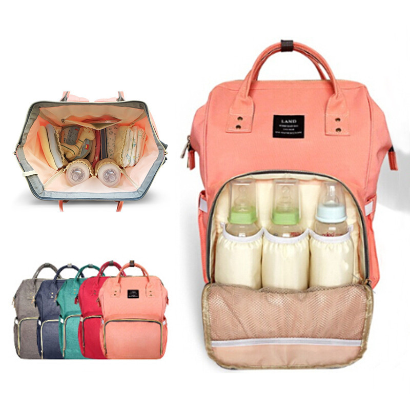 f21604c03f0b1 LAND Diaper Bag Mommy Maternity Nappy Bags Large Capacity Baby Travel  Backpack Desiger Nursing Bag Baby Care For Dad and Mom ^