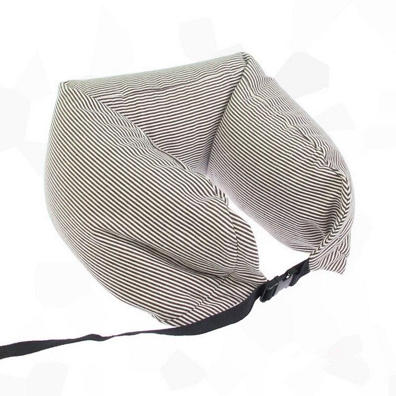 Soporte de cintura en forma de U Almohada de cuello rayas Rebote - Textiles para el hogar