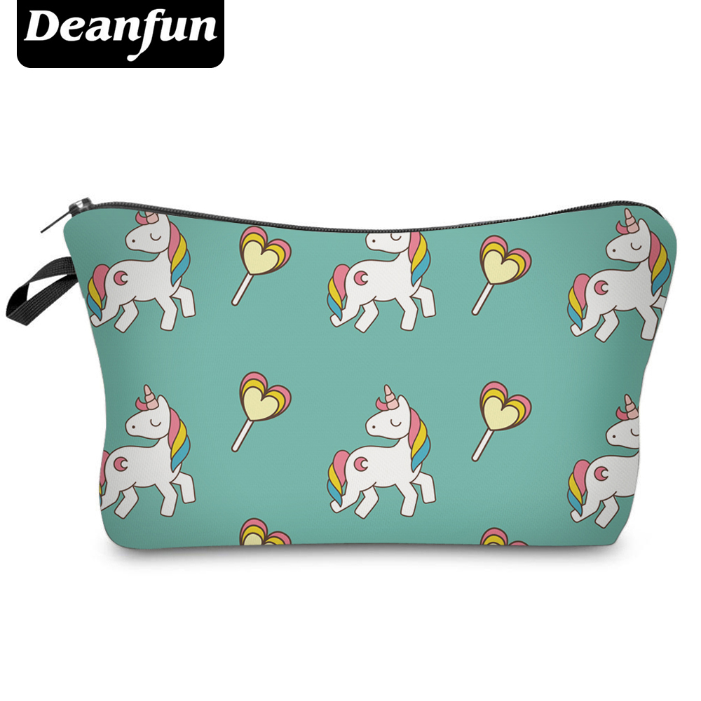 Deanfun Fashion Brand Unicorn Cosmetic Bag 2017 New Fashion 3D Printed Women Travel Makeup Case H83