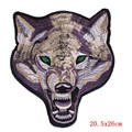 Prajna Large Lone Wolf Patch Stranger Things Animals Iron On Embroidery Biker Patches Punk Applique Motorcycle Back Patch Jacket