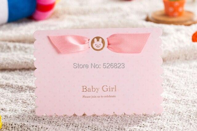 Lovely pink customized girl baby shower birthday new born party lovely pink customized girl baby shower birthday new born party invitation card festa convites stopboris Gallery