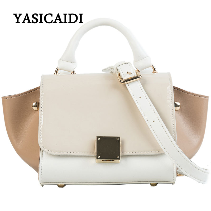 Large Capacity PU Leather Women Crossbody Bag Office Ladies Fashion Messenger Bags Luxry Patchwork Trapeze Women Tote Bags