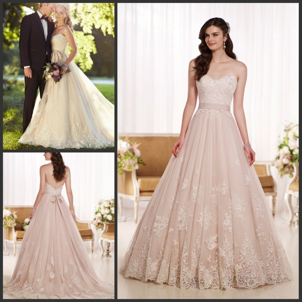 2015 New Arrival Princess Bride Wedding Gowns Sweetheart A line Lace ...
