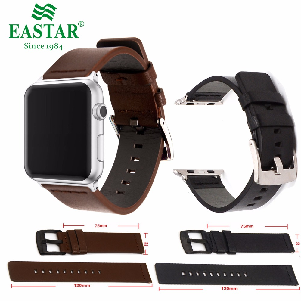 Eastar Genuine Leather Bracelet For Apple Watch Band 42mm 38mm iWatch Watch Accessories For Apple Watch Strap Watchband все цены