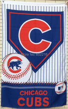 Chicago Cubs Large Outdoor Flag 3ft x 5ft Football Hockey Baseball USA Flag