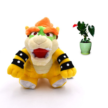 7 inches 18cm super mario bros koopa bowser plush toys with tag high quality gift for children 718 cm Anime Super Mario Bros Standing Bowser Koopa Peluche Doll Plush Soft Stuffed Baby Toy Great Christmas Gift For Children