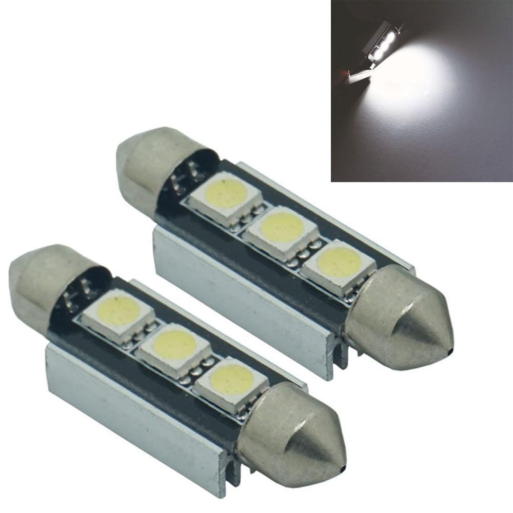 CQD-Light 2X 36 / 39 41CM C10W C5W 3SMD 3 SMD 5050 LED CANBUS NO Error Festoon Bulb Car Licence Plate Light Auto Housing Interi ...