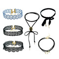 Korean fashion blue&black vintage lace maxi collares mujer choker necklaces women steampunk pokemon chocker necklace&pendants