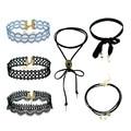 Korean fashion blue&black vintage lace maxi collares mujer choker necklaces women steampunk pokemon chocker necklace&pendants