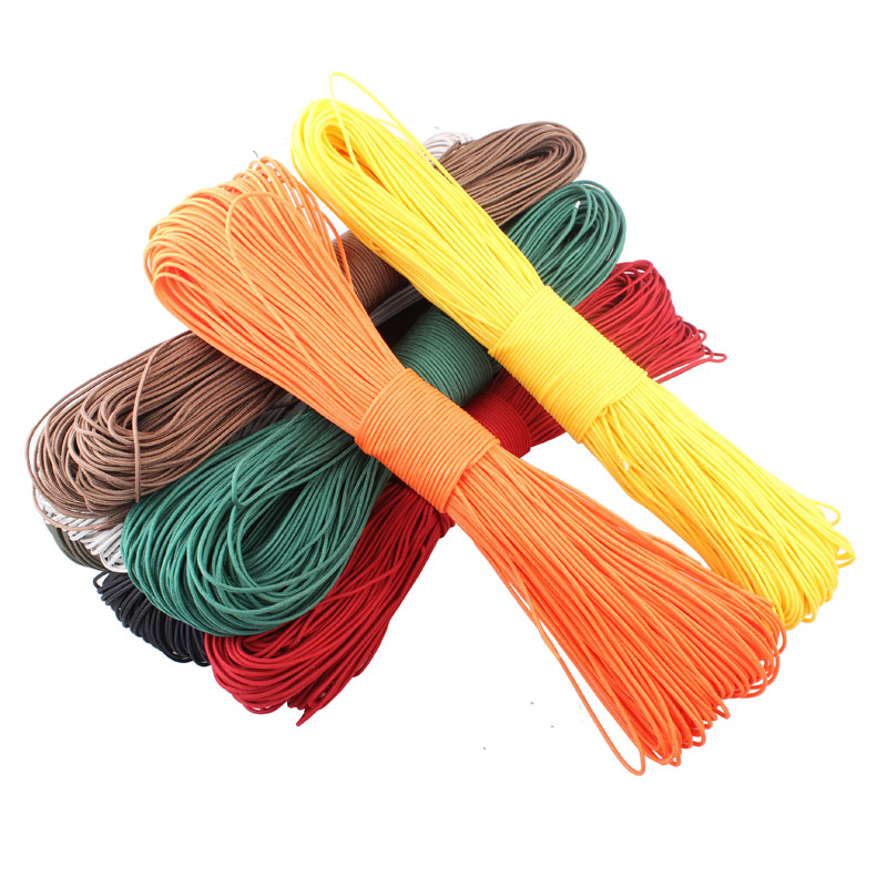 50 Meters Dia. 2mm one stand Paracord Survival Parachute Cord Lanyard Rope Type Climbing Camping - campingsky cord Store store