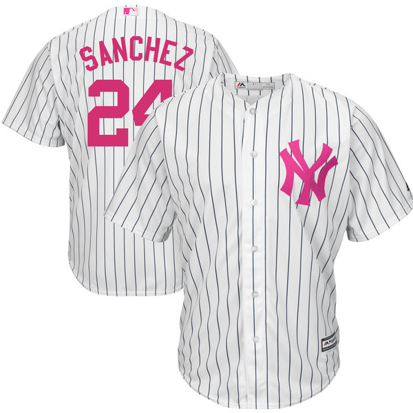 MLB Men s New York Yankees Gary Sanchez Baseball White Mother s Day Cool  Base Replica Jersey 9baace6bacf